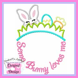 Some Bunny Loves Me Applique