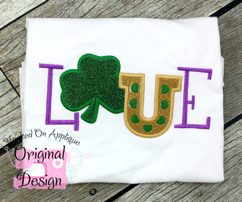 St. Pats LOVE Applique