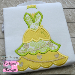 Frog Princess Tree Dress Applique