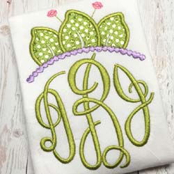Frog Tiara Applique
