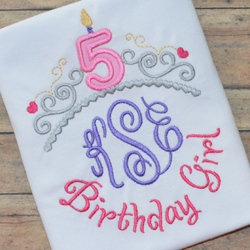 Tiara Birthday Numbers