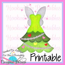 Tink Tree Dress PNG Printable