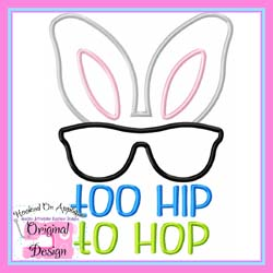 Too Hip To Hop Applique