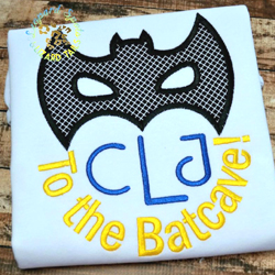 To The Batcave Applique