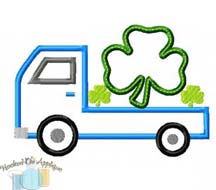 Truck with Shamrock Applique