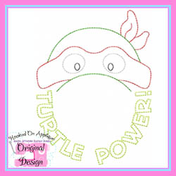Turtle Power Vintage Embroidery