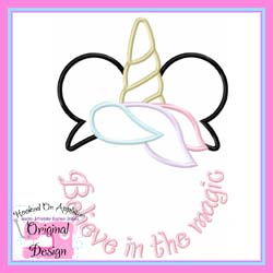 Unicorn Believe in the Magic Applique