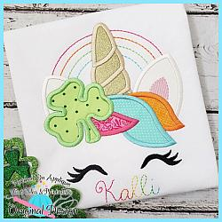 Shamrock Unicorn Applique