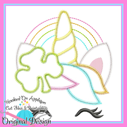 Shamrock Unicorn Zig Zag Applique
