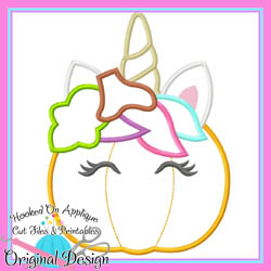 Unicorn Pumpkin Applique
