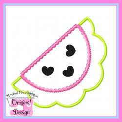 Watermelon Hearts Applique