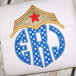Wonder Girl Tiara Applique