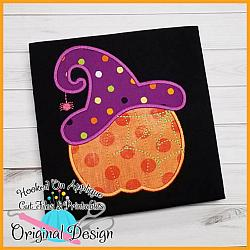 Witch Hat Pumpkin Applique