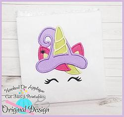 Unicorn Witch Applique