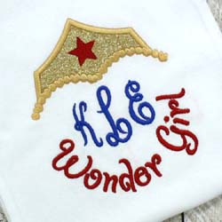 Wonder Girl Applique