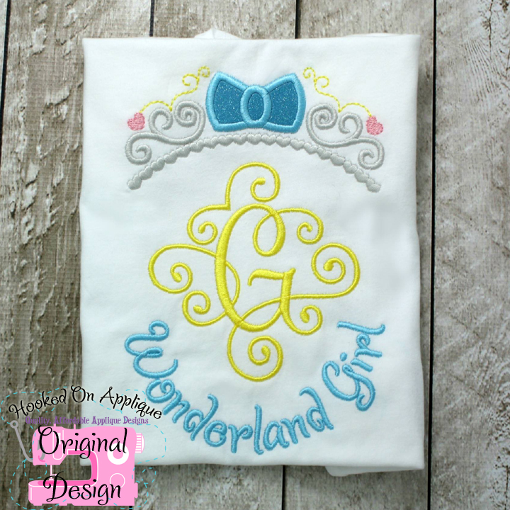 Wonderland Girl Applique