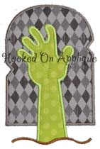 Zombie Hand Applique
